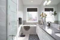 Elegant, modern home showcase interior bathroom