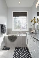 Elegant, modern home showcase interior bathroom 11096047363| 写真素材・ストックフォト・画像・イラスト素材|アマナイメージズ