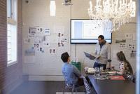 Designers meeting brainstorming in conference room 11096048019| 写真素材・ストックフォト・画像・イラスト素材|アマナイメージズ