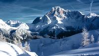 Pala di San Martino peak in winter, San Martino di Castrozza, Trentino-Alto Adige, Italy