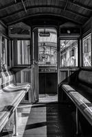 Interior of old tram, Helsinki, Finland 11098003681| 写真素材・ストックフォト・画像・イラスト素材|アマナイメージズ