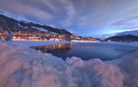 Ski  park in St .Moritz  ....In the winter moment.