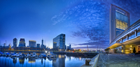 Panoramic view of marina in Puerto Madero district, Buenos Aires, Argentine
