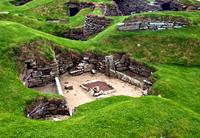 Archeological site of Skara Brae, Orkney Islands, UK