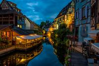 Buildings along canal, Colmar, France