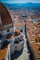 Dome of Cattedrale Di Santa Maria Del Fiore and cityscape, Florence, Italy