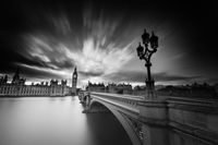 Westminster Bridge over Thames River with Big Ben and Houses Of Parliament in background, London, England, UK