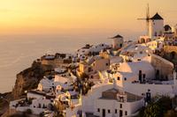 Cityscape at twilight, Oia, Santorini, Greece