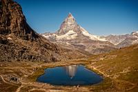 Lake in mountains, Switzerland