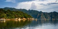 Mountain range and sea, Coron, Palawan, Philippines