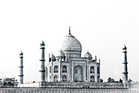 View of Taj Mahal, Agra, Uttar Pradesh, India