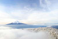 Aerial view of Mount Fuji, Japan