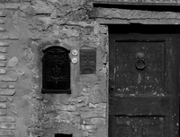 Close-up of old door, Tuscany, Italy
