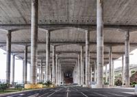 City road under huge ceiling, Madeira, Portugal