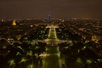 View at Paris at night, Paris, France