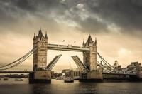 Tower Bridge opening, London, England, UK