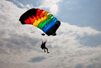 Parachutist flying, Czech Republic