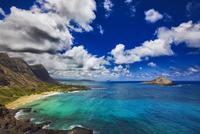Idyllic coastal view, Oahu, Hawaii, USA