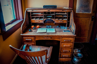 Old-fashioned chair and desk