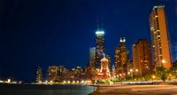 John Hancock Center at night, Chicago, Illinois, USA