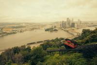 City skyline from Duquesne Incline, Pittsburgh, Pennsylvania, USA
