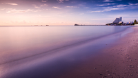 Calm beach at resort, Hua Hin, Thailand