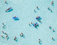 People relaxing on pool, Azure