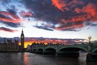 Sunset over Westminster, London, England, UK