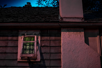 Old house wall with window, Edmonton, Alberta, Canada