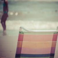 Back of deckchair on beach