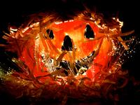 Fiber optic jack-o-lantern 11098019137| 写真素材・ストックフォト・画像・イラスト素材|アマナイメージズ
