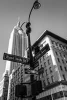 Low angle-view of Empire State Building, New York City, New York State, USA