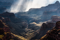 Sun rays at Grand Canyon, Arizona, USA