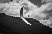 Hang gliding over mountain, Tennessee, USA