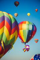 Colorful balloons in air, Reno, Nevada, USA
