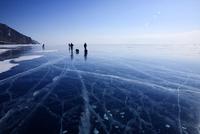 Frozen Lake Baikal, Siberia, Russia