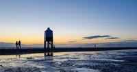 Wooden lighthouse on beach, Burnham on Sea, UK