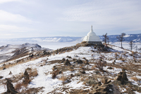 Buddhist stupa, Siberia, Russia