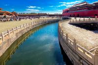 Moat around Forbidden City, Beijing, China