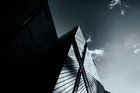Low angle view of crystal building, Toronto, Ontario, Canada