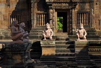 Statues at Banteay Srei, Angkor, Cambodia