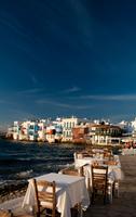Restaurant on seafront, Mykonos