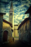 Church in old town, Cortina, Friuli-Venezia Giulia, Italy