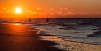 Fishermen on Nickerson Beach, New York State, USA