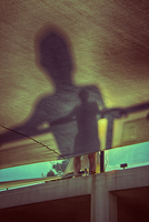 Shadow of man indoors