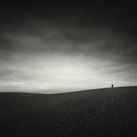Minimalistic abstract landscape, Werneuchen, Brandenburg, Germany