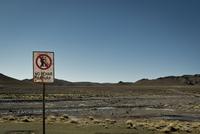 Sign in desert, Bolivia