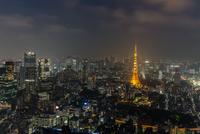 Tokyo Tower at night, Tokyo, Japan 11098022478| 写真素材・ストックフォト・画像・イラスト素材|アマナイメージズ