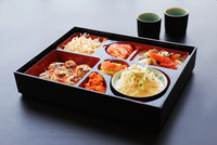 Lunch box with korean food