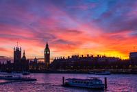 Westminster at sunset, London, England, UK